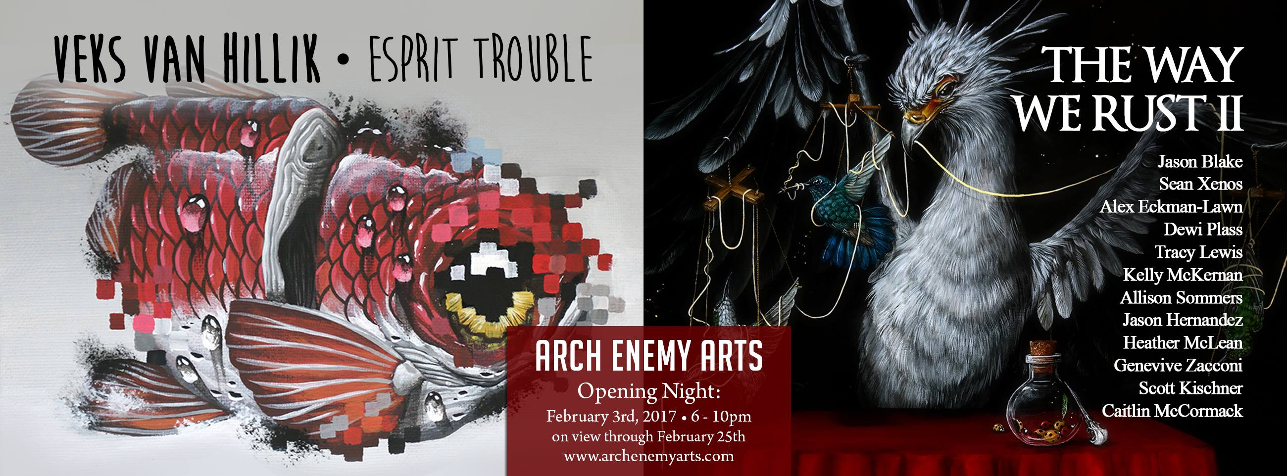 The Way We Rust II @ Arch Enemy Arts, opening February 3rd 2017